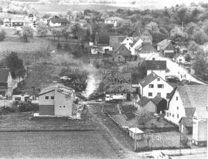 Die Einflugschneise beim Absturz des Kampfflugzeugs F 16 am 10. Mai 1983 in Hornberg. FOTO: US-AIRFORCE